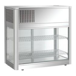 Vitrine réfrigérée de comptoir inox à poser 160 litres