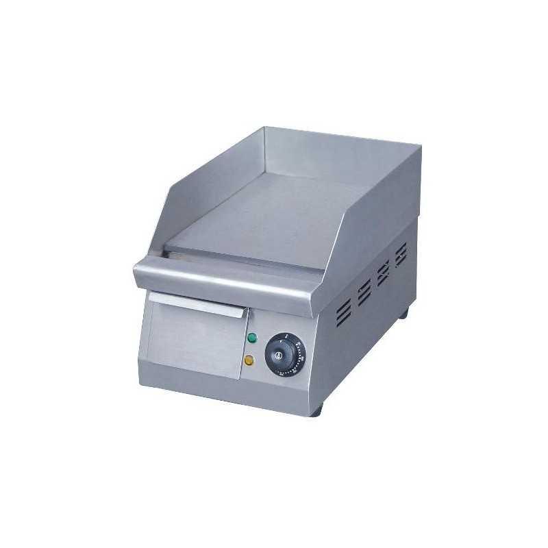Plaque à snacker éléctrique inox simple 400mm