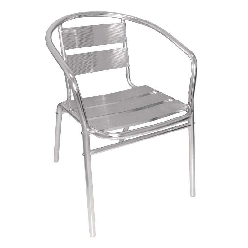 Fauteuils empilables en aluminium for Table de terrasse pas cher