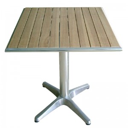 Table carré en plateau frene