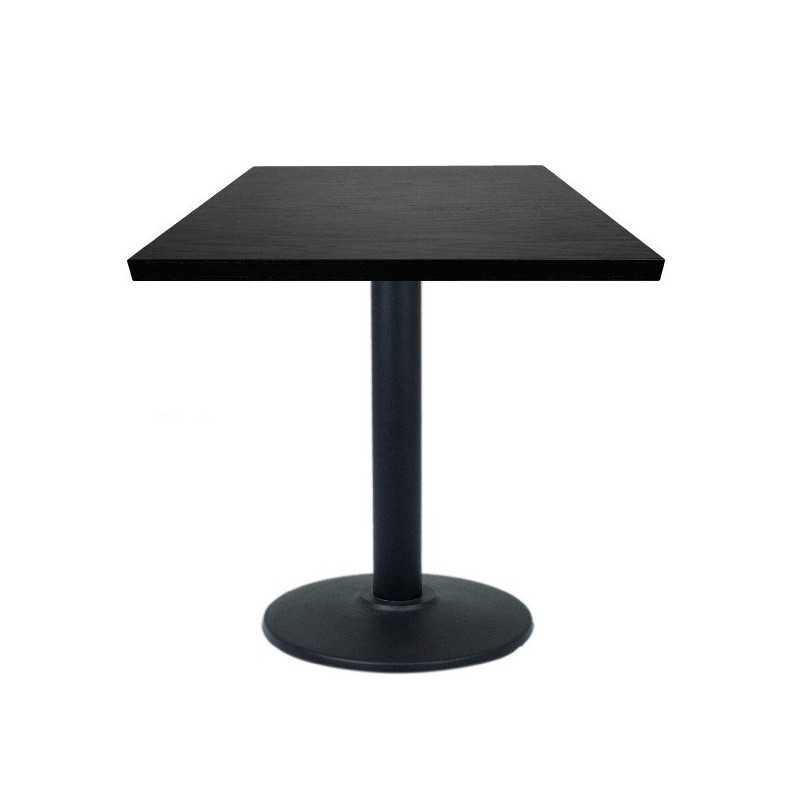 table carr de noir 60 restaurant avec base en acier gastromastro group sas. Black Bedroom Furniture Sets. Home Design Ideas