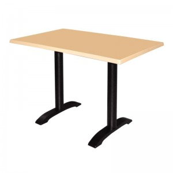 Table carré de restaurant double avec base deux pieds
