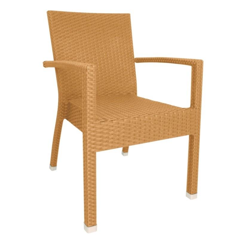 Chaises en rotin naturel avec accoudoirs gastromastro for Chaise de cuisine en rotin