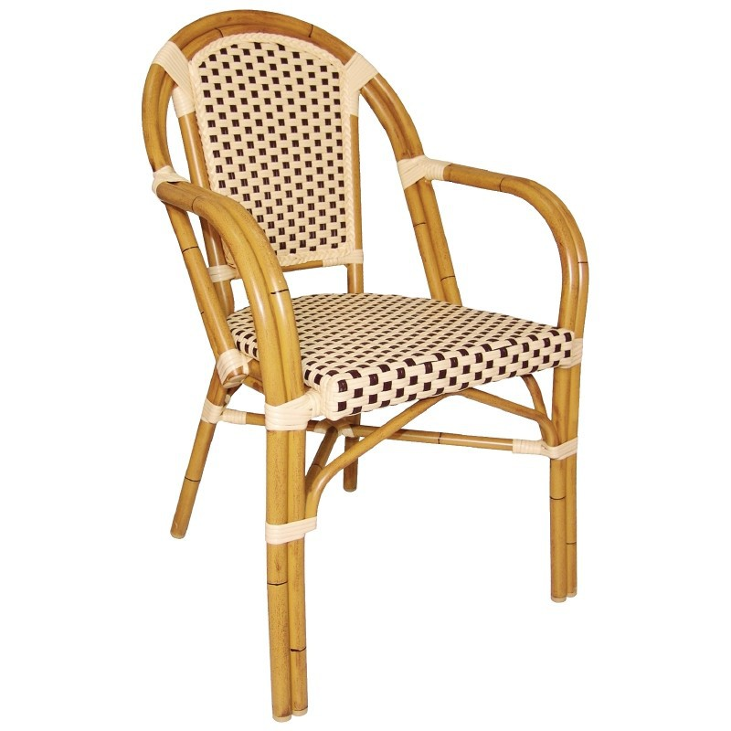 Chaises en rotin bar avec accoudoirs gastromastro group sas - Chaise de bar en osier ...