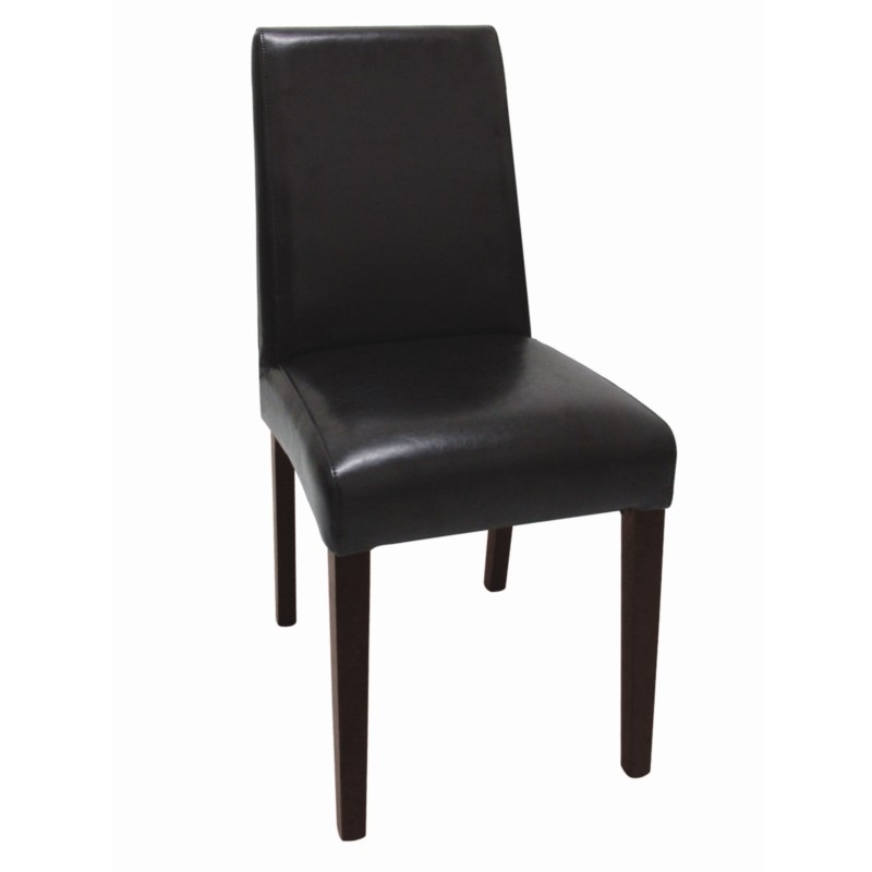 Chaises en simili cuir noir fonc gastromastro group sas for Chaises simili cuir marron