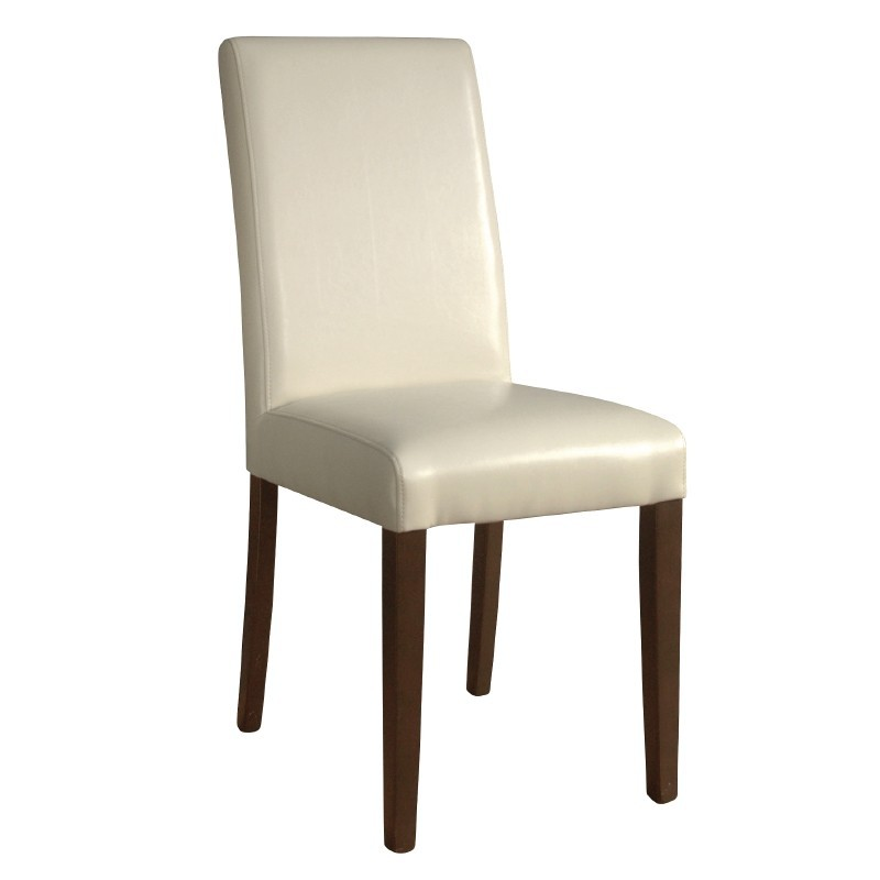 Chaises en simili cuir cr me gastromastro group sas for Chaises simili cuir marron