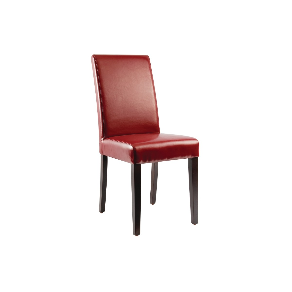 Chaises en simili cuir rouge gastromastro for Chaises simili cuir marron