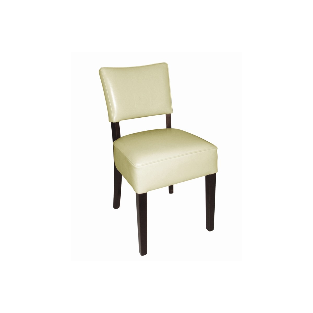 Chaises en simili cuir cr me resto gastromastro for Chaises simili cuir marron