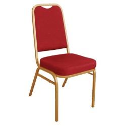Chaises rouge de banquet et hotel