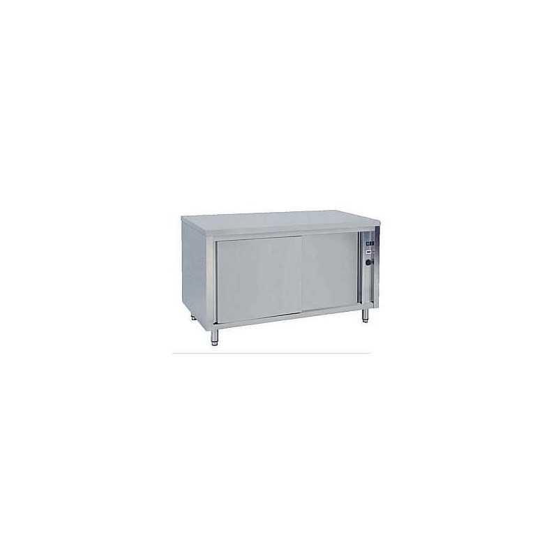 Meuble chauffant inox portes coulissantes 1200 x 700 x 850 for Meuble porte assiette