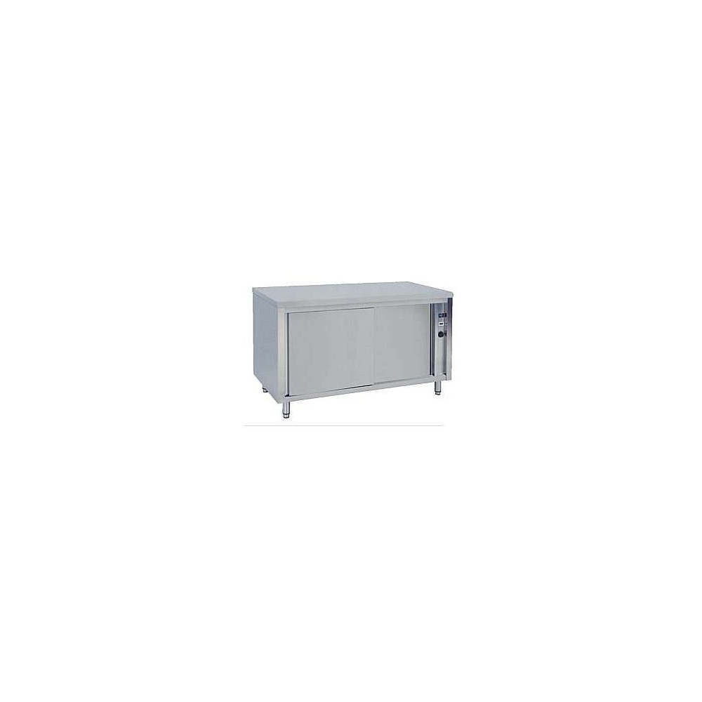 Meuble chauffant inox portes coulissantes 1200 x 700 x 850 for Meuble a portes coulissantes