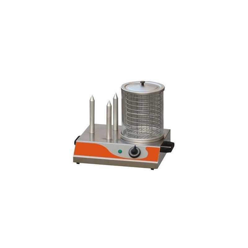 machine hot dog professionnel electrique 230v 3 plots. Black Bedroom Furniture Sets. Home Design Ideas