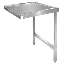 Table d'entrée lave-vaisselle capot - AISI 304 - Entrée droite - 600 x 650 x 880 mm