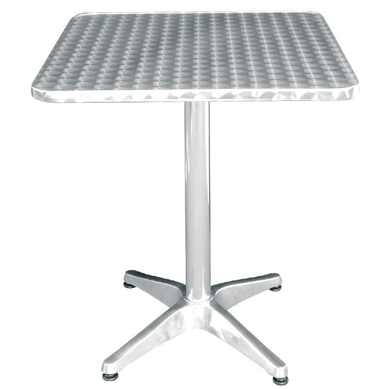 table carr e bistro sur pied basculante gastromastro. Black Bedroom Furniture Sets. Home Design Ideas
