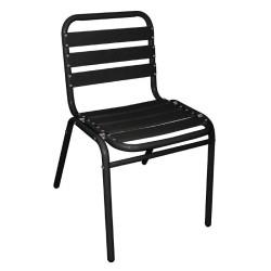 Chaises de bar en aluminium noir