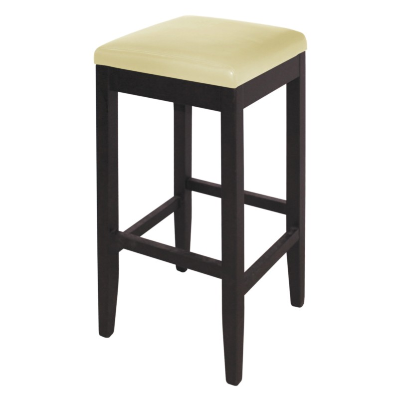 Tabouret en simili cuir beige gastromastro group sas for Chaises simili cuir marron