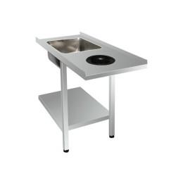 Table d'entrée lave vaisselle entrée droite