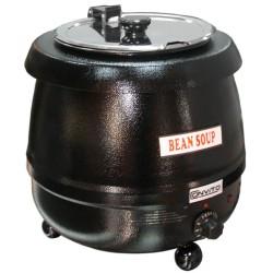 Soupière électrique professionnelle corps noir contenant 10 litres