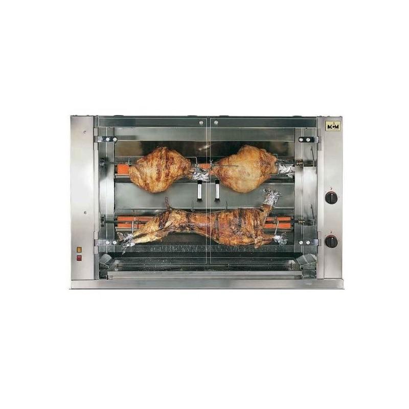 Rotissoire professionnel poulets gaz 7 broches 42 poulets sur roues - Barbecue gaz rotissoire ...