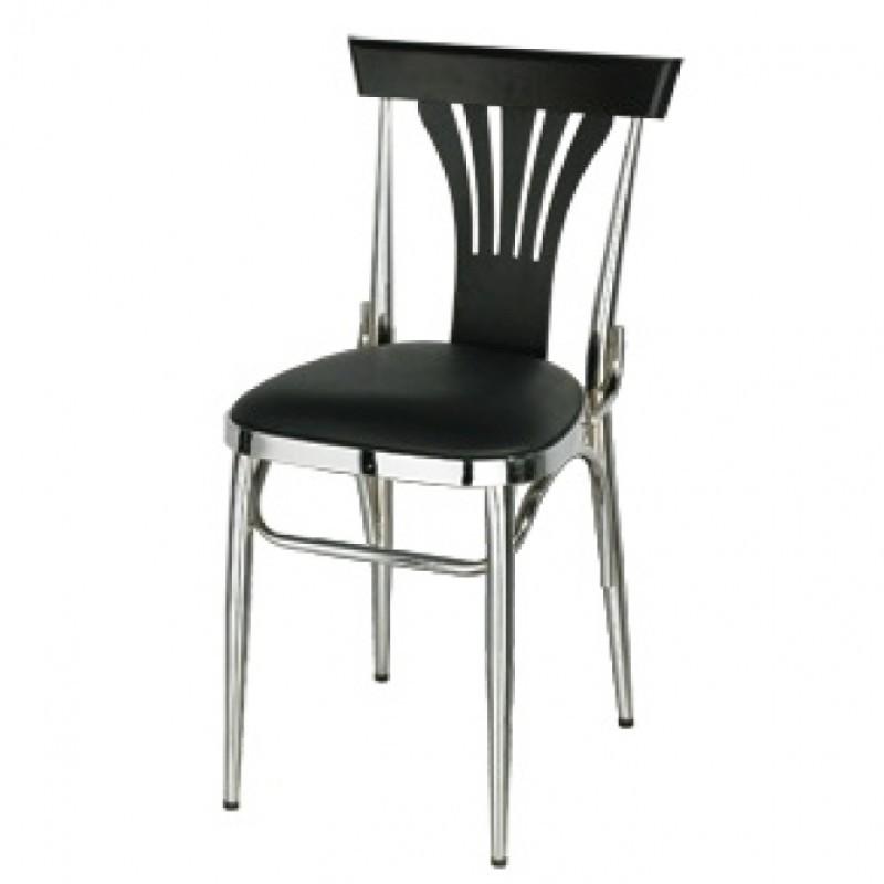 chaise design metal noir maison design. Black Bedroom Furniture Sets. Home Design Ideas