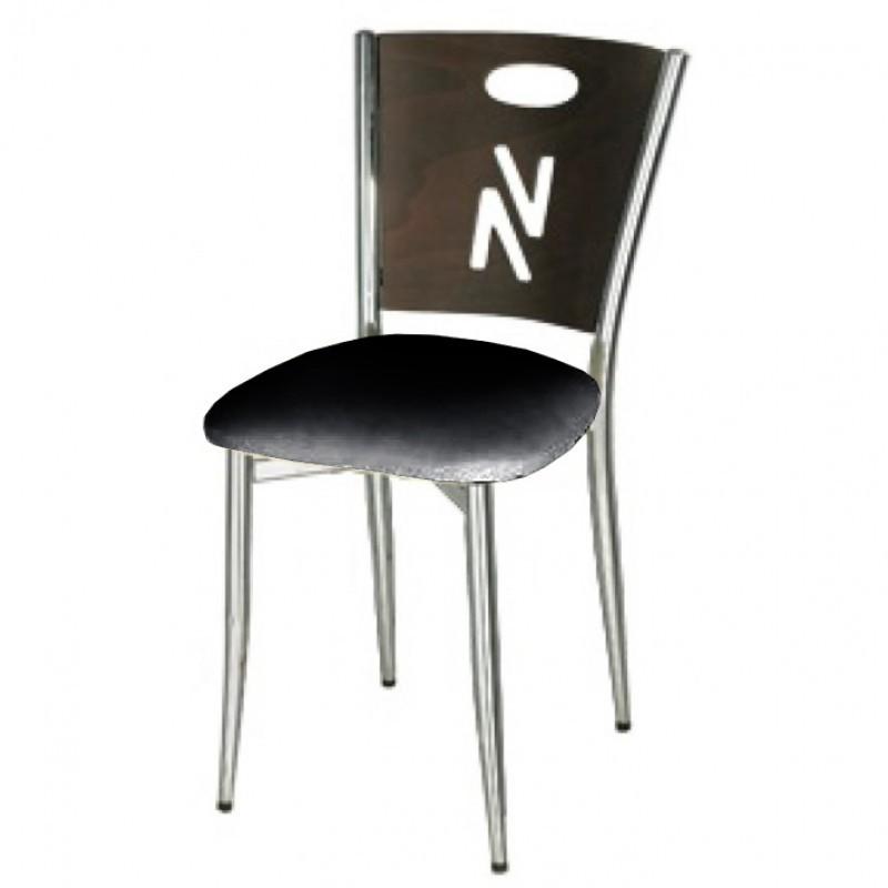 chaise sky chrome noir et bois gastromastro group sas. Black Bedroom Furniture Sets. Home Design Ideas