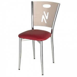 Chaise bistro noir métal
