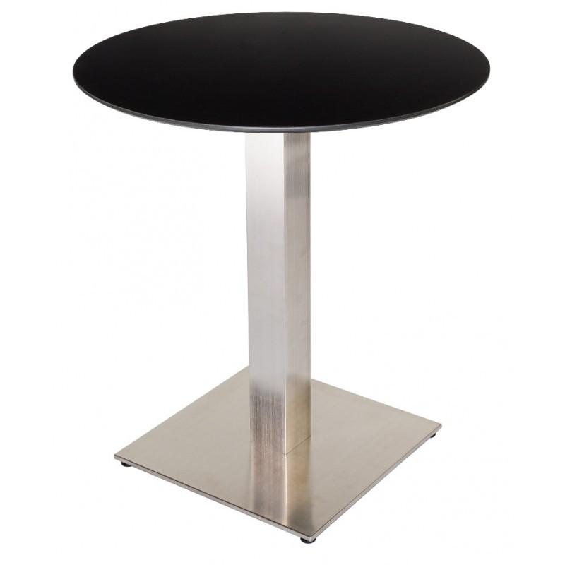 Table De Restaurant Ronde Wenge 60 Base Ultra Plat En