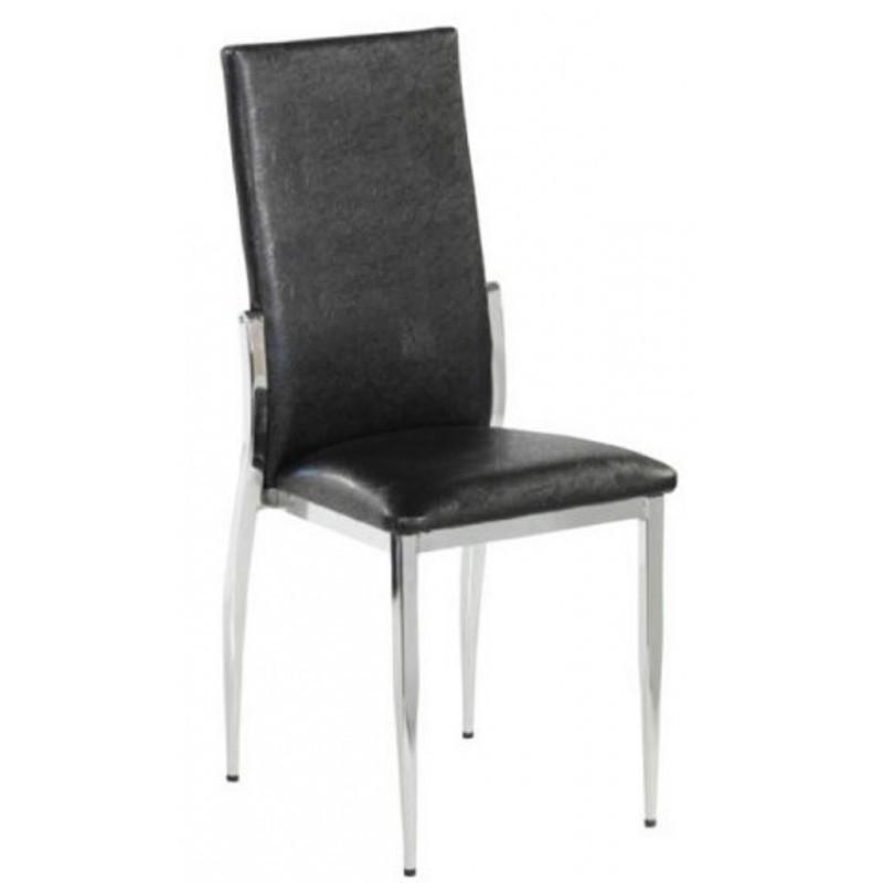 chaise bistro m tal avec assise simili noir gastromastro group sas. Black Bedroom Furniture Sets. Home Design Ideas