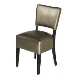 Chaises en simili cuir crème RESTO