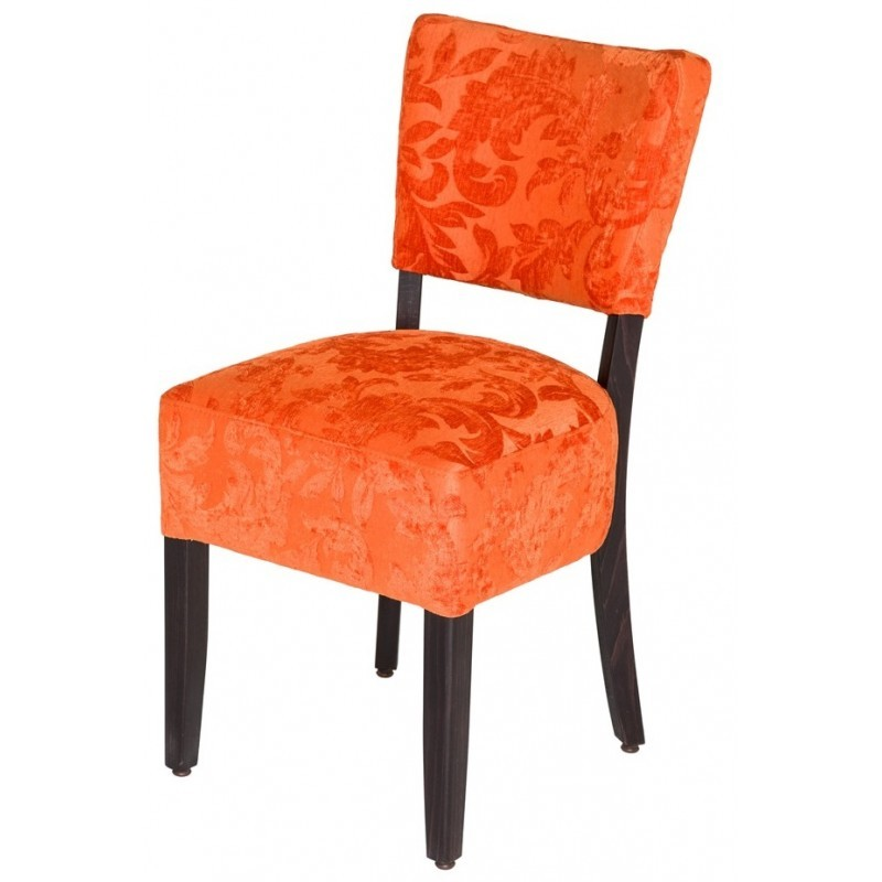 Chaises en mi orange gastromastro group sas for Chaises simili cuir marron