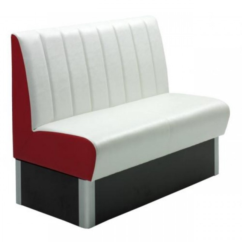 banquette de bar model rang rouge blanc gastromastro. Black Bedroom Furniture Sets. Home Design Ideas