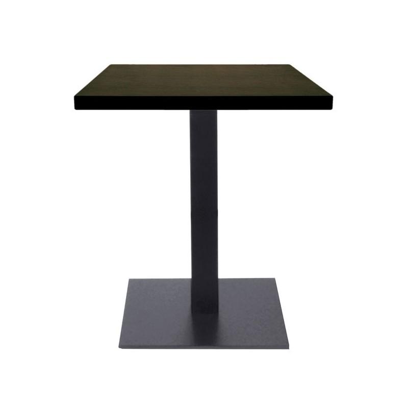 Table De Restaurant Base Carr Ultra Plat En Acier Noir