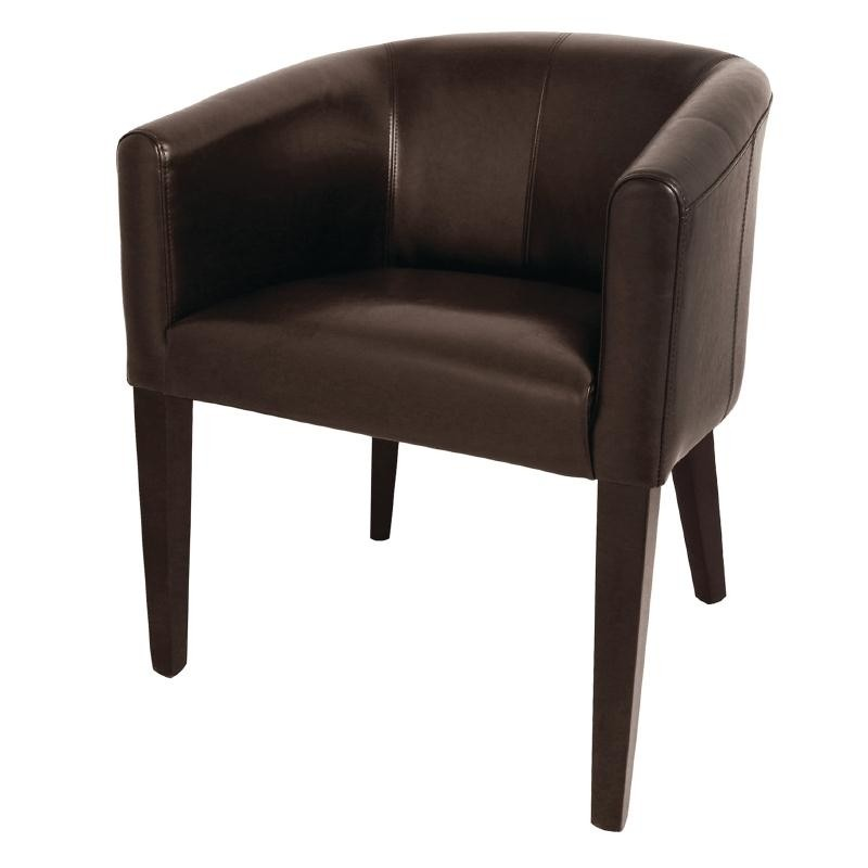 Fauteuil simili cuir marron gastromastro group sas for Chaises simili cuir marron