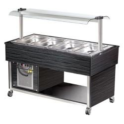 Salade bar buffet  réfrigéré - 4 x GN 1/1- Buffet réfrigérée  4 x GN 1/1