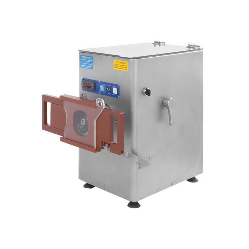 Hachoir à viande réfrigéré - PREMIUM - Usage intensif - 500 kg / heure - 230 / 380 V. - Reconstitueur intégré