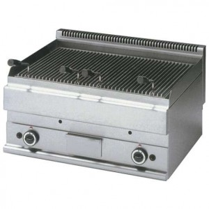 Grill pierre de lave gaz double -Top-