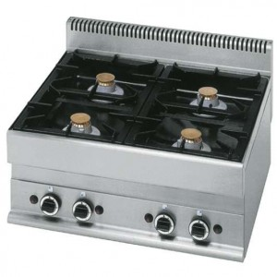 Cuisinière 4 feux gaz, -Top
