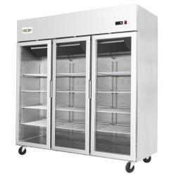 PREMIUM - Armoire réfrigérée vitrée négative - 1390 L. - Garantie 2 ans  - Classe ST