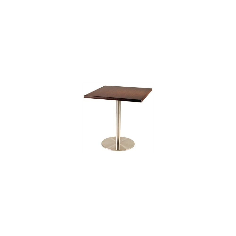 Table de restaurant avec base ronde en acier inoxidable gastromastro group sas - Restaurant table ronde paris ...