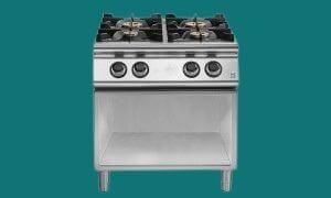 Réchaud gaz professionnel - cuisinière feu vif