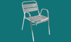 Chaise de Terrasse en Aluminium:  chaises aluminium restaurant - dag Paris